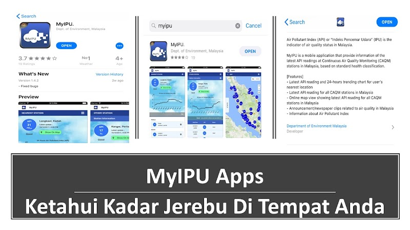 Download MyIPU Apps Untuk Ketahui Kadar Jerebu Di Tempat Anda