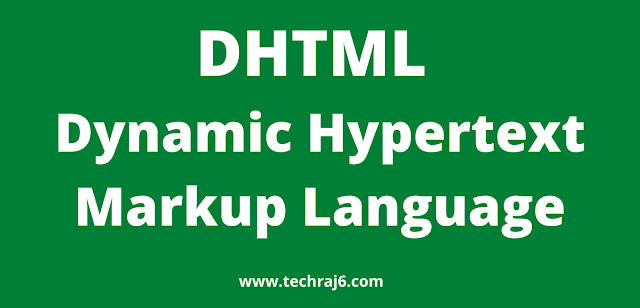 DHTML full form, what is the full form of DHTML