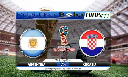 PREDIKSI SKORE ARGENTINA VS KROASIA 22 JUNI 2018