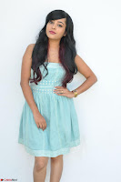 Sahana New cute Telugu Actress in Sky Blue Small Sleeveless Dress ~  Exclusive Galleries 003.jpg