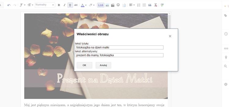 optymalizacja zdjęć na blogspocie