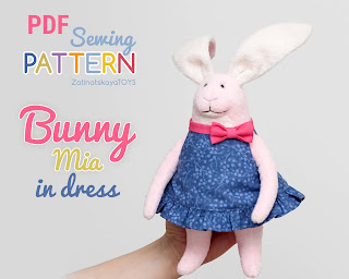 Easy Easter bunny plush pattern