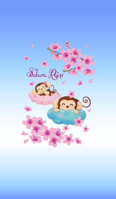 Smiling little monkey~Sakura Rains