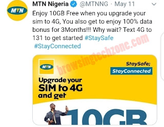 How to get free 10gb data on mtn