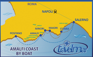Ferries Connect the Town on Amalfi Coast