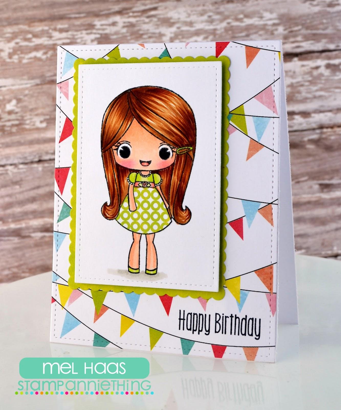 Stamp Annie Thing Birthday Greetings From Melanie