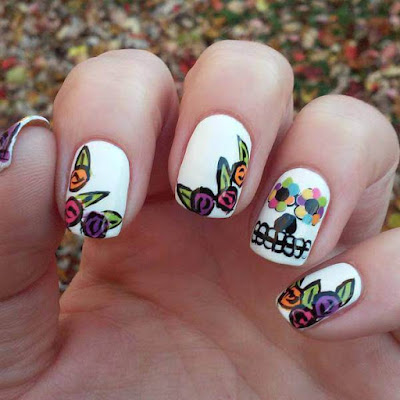 Halloween Funny, Mylar Nails Art Ideas