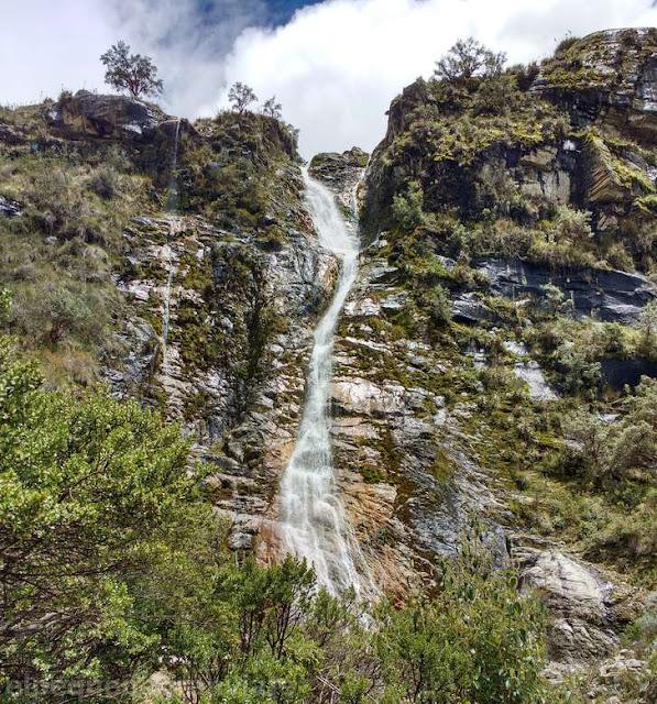 cascada, hilo, trekking, Peru