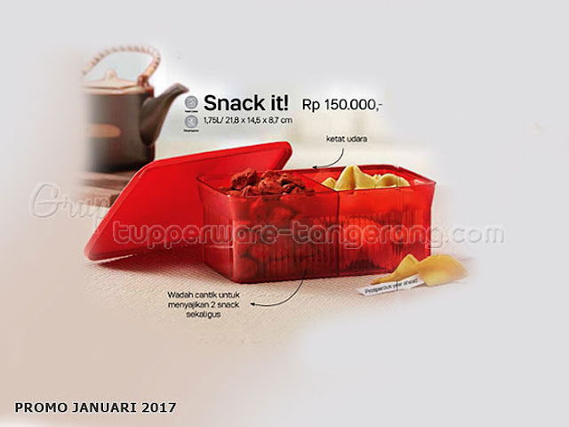 Snack It Promo Tupperware Januari 2017