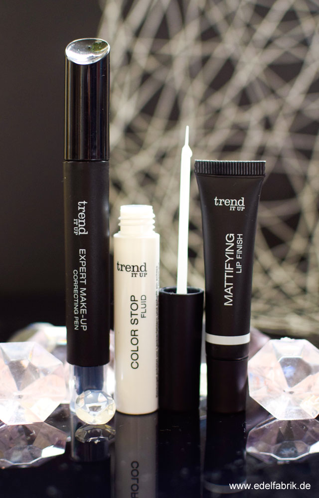 trend IT UP, Correcting Make-Up Pen, Color Stop Fluid, Mattifying Lipfinish