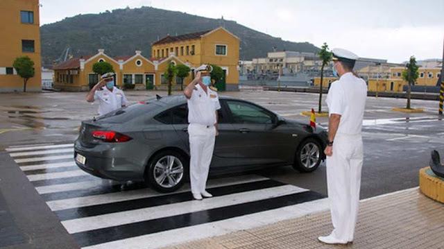Llegada del Almirante de Enseñanza Naval (ESUBMAR).