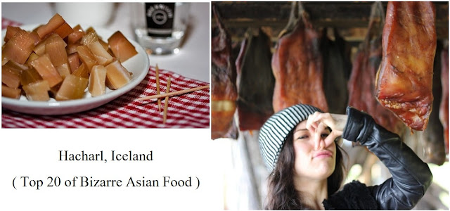 Hakarl, Iceland- top 20 of bizarre asian food