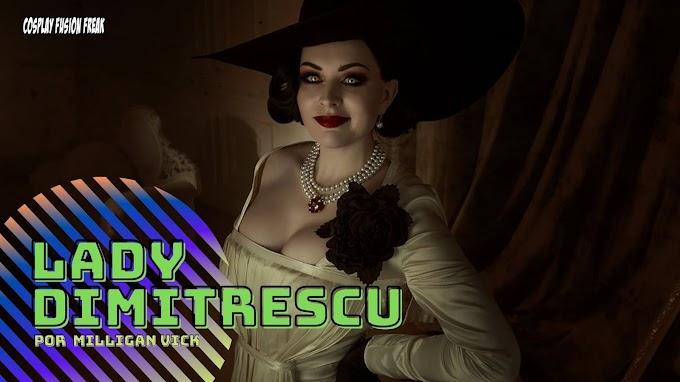MIlligan Vick con su cosplay de Lady Dimitrescu en Resident Evil