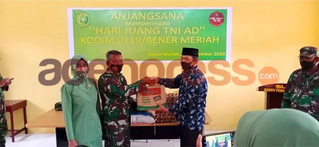 Kodim 0119 Bener Meriah, Peringati Hari Juang TNI AD Turut Menyerahkan Bantuan Sembako, Sekaligus Anjangsana Ke SLB Restu Permata Bunda