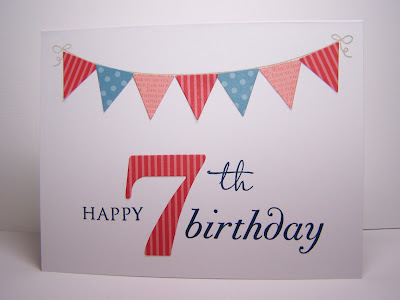 My Stamping and Beading Therapy: Happy 7th Birthday