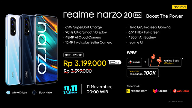 realme narzo 20 pro 11.11 salebration
