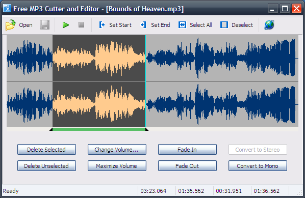 تحميل برنامج قص الاغاني نسخة محمولة مجانا Free MP3 Cutter and Editor Portable