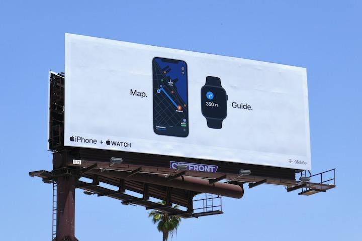 Map Guide Apple iPhone Watch billboard