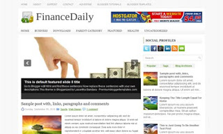FinanceDaily Blogger Template