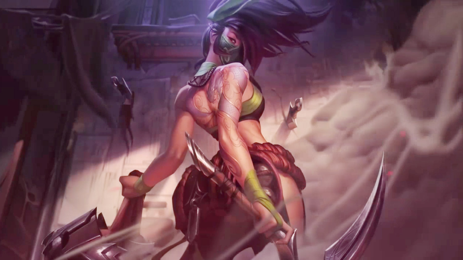 Akali The Rogue Assassin League Of Legends Animated Live Desktop
