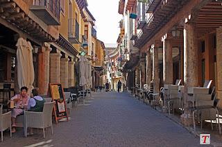 Calle pintoresca en Medina de Rioseco, Valladolid