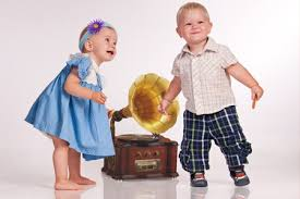 Children learn to move to music at an early age