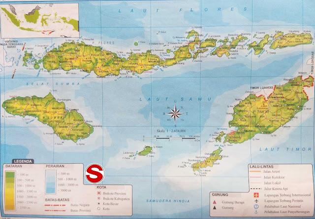 Peta NTT lengkap 21 Kabupaten 1 Kota | Sejarah and World Maps