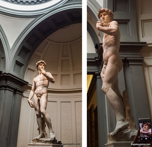 Davi, de Michelangelo, na Galleria  della Accademia, Florença