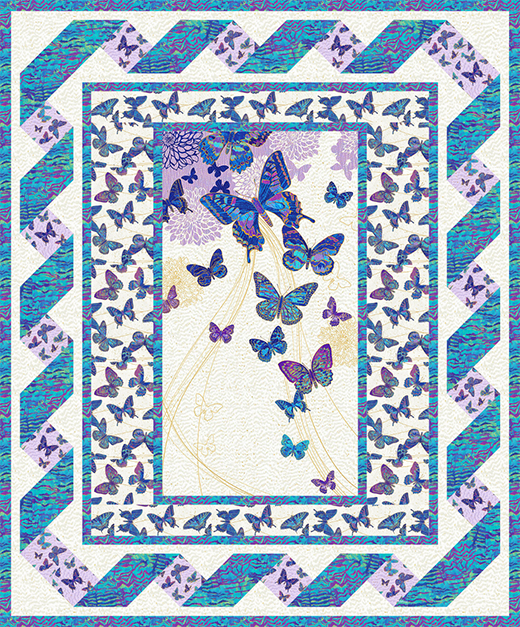 Butterfly Fantasia Quilt designed by eQuilter