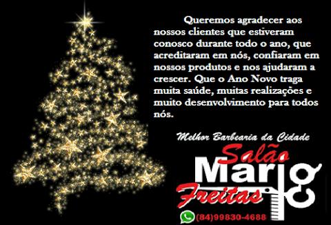 O Salão Mario Freitas agradece a confiança de seus clientes e amigos durante o ano de 2019