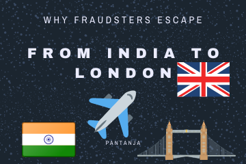 Why fraudsters escape from india to london?