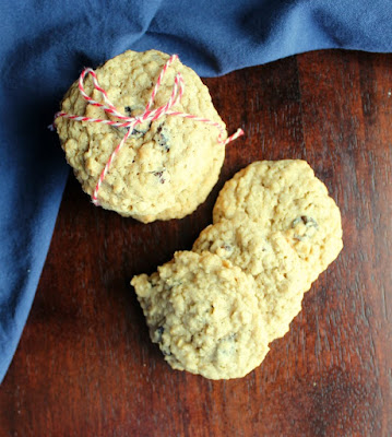 stacks of oatmeal raisin cookies