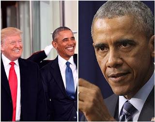 Barack Obama and Trump