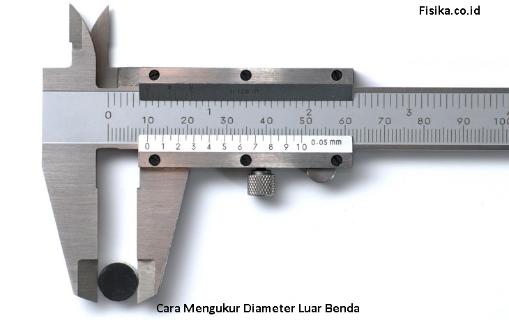 Cara Menggunakan Jangka Sorong untuk Mengukur Diameter Luar Benda