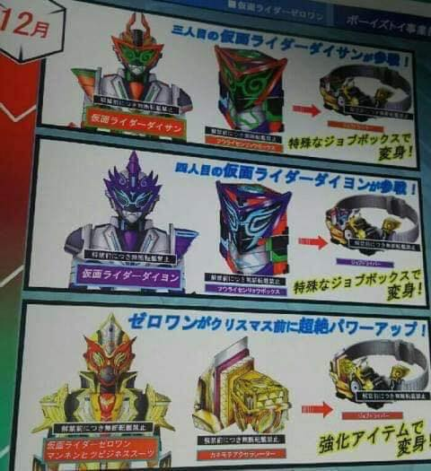 Kamen Rider Zero-One - Leaked Toy Catalog? - JEFusion