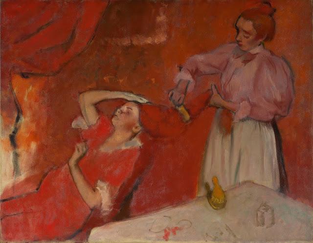 Эдгар Дега - Расчёсывание волос (1896)