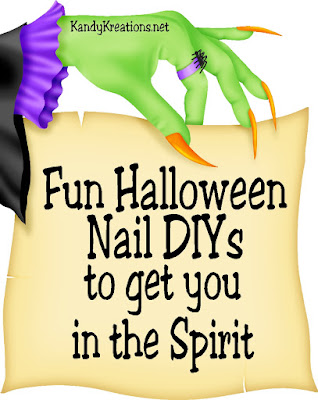 "Get in the Halloween spirit all month long with these 27 fun nail art designs.  You can DIY your own nails at home and dress them up in a different Halloween ""costume"" every day."