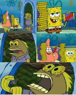 Polosan meme spongebob dan patrick 163 - maniak coklat, coklllllaaaaaattt..