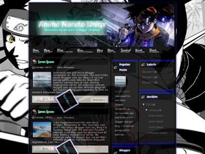 Anime Naruto Uniqx Blogger Template