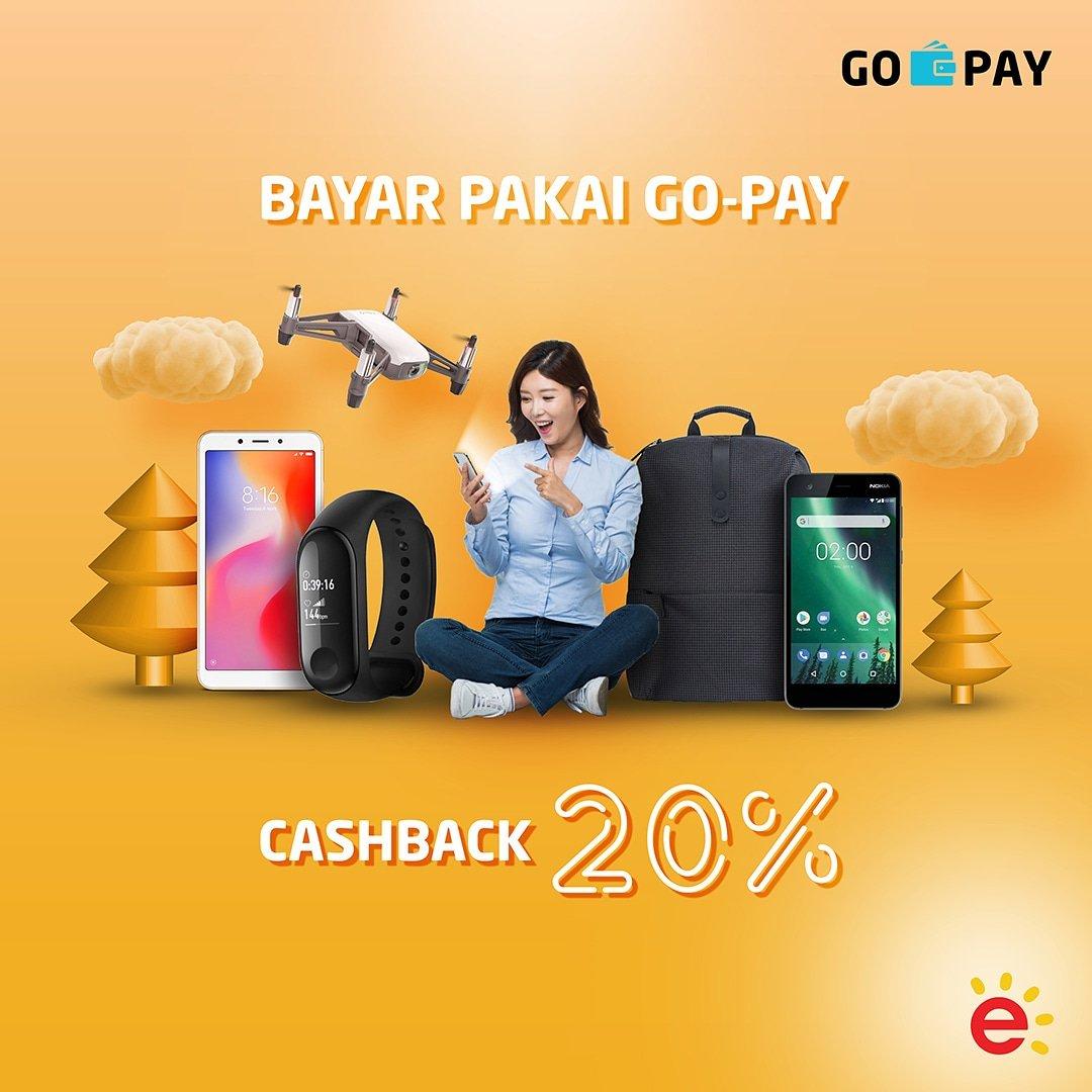 Erafone - Promo Cashback 20% Pakai GOPAY (s.d 14 Des 2018)