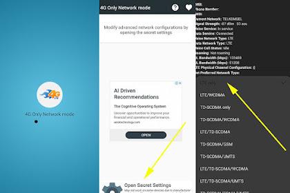 Cara Mengubah Jaringan HP ke 4G Only dengan Aplikasi Tambahan
