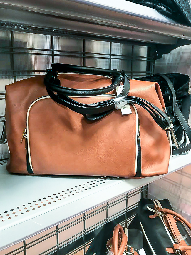 Faux leather messenger bag from Walmart