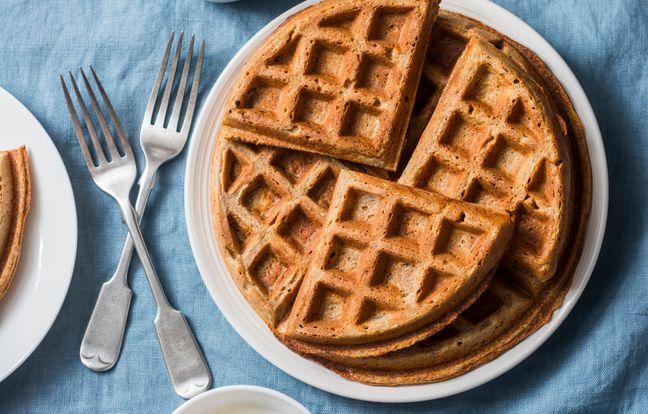 Light and crispy gluten-free waffles
