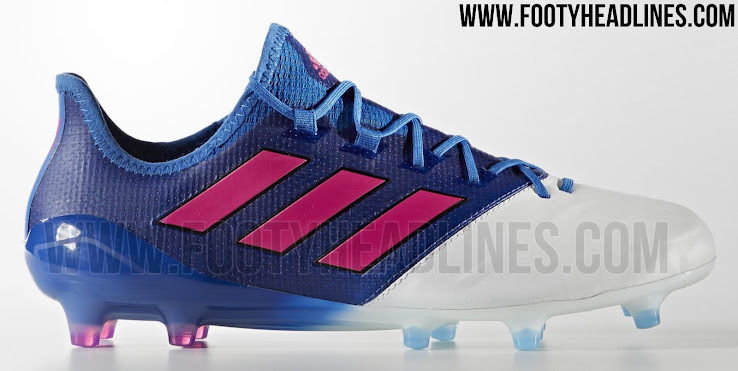 blue white adidas ace 17 leather boots revealed footy. Black Bedroom Furniture Sets. Home Design Ideas