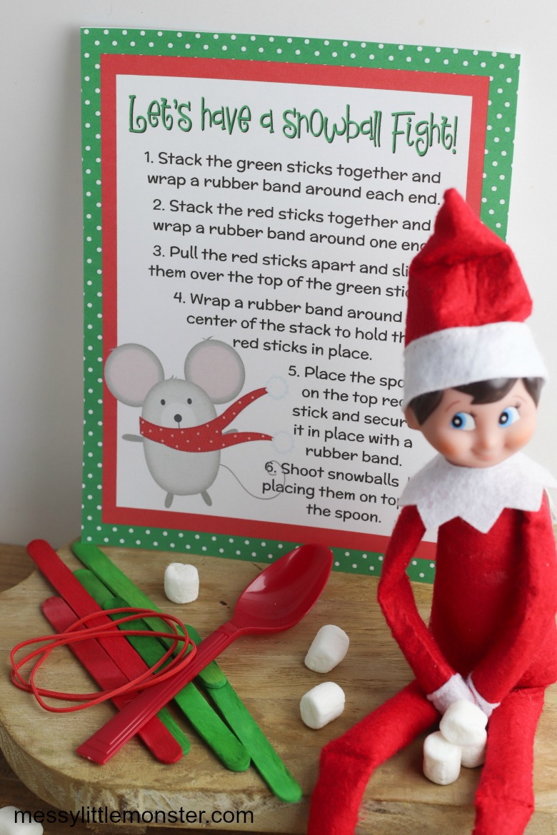 marshmallow catapult elf on the shelf printable