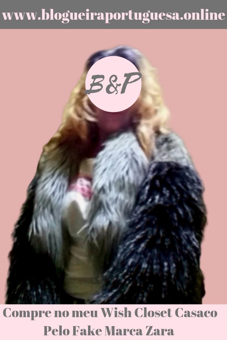 Casaco pelo fake marca Zara (ALT)