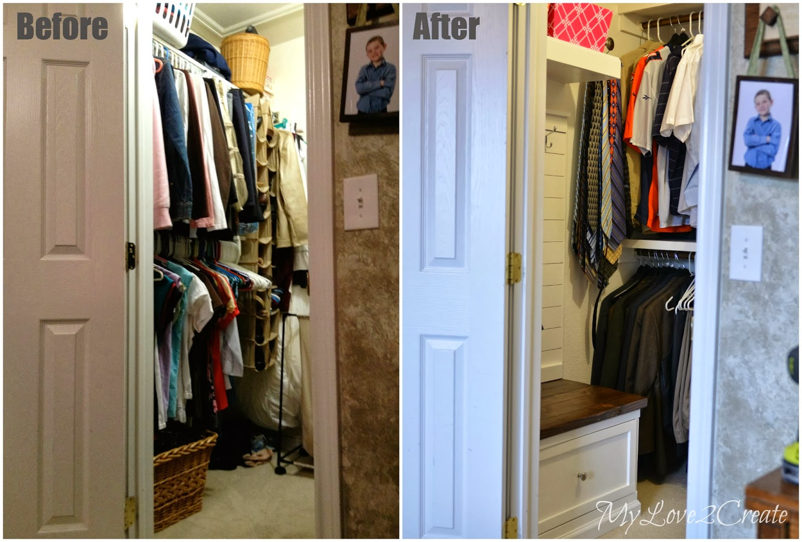 Marvelous MyLove2Create, Master Closet Makeover