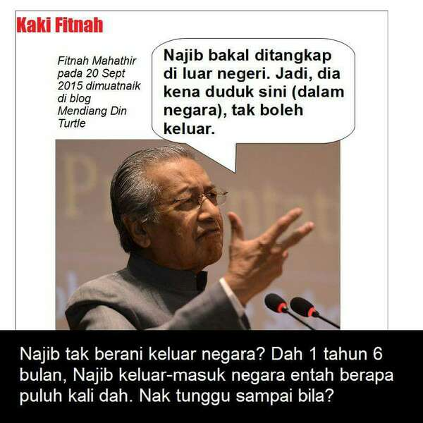 Mahathir boleh percaya ke? Kaki Fitnah.