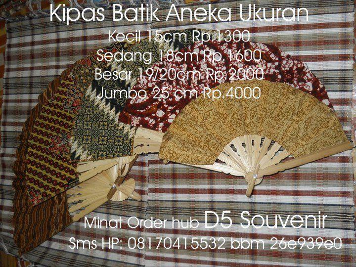 souvenir pernikahan kipas batik, souvenir pernikahan murah