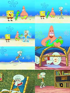 Polosan meme spongebob dan patrick 100 - squidward ingin hidup tenang sendirian